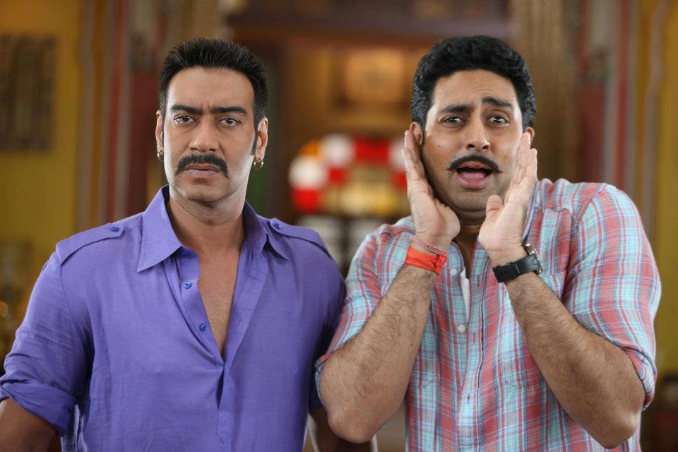 Abhishek Bachchan and Ajay Devgn in Bol Bachchan (2012)