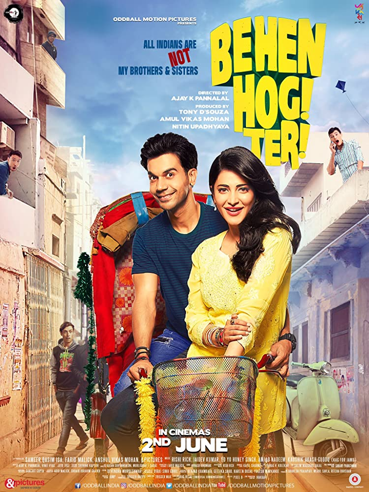 Behen Hogi Teri 2017 Hindi Movie 720p HDRip 800MB