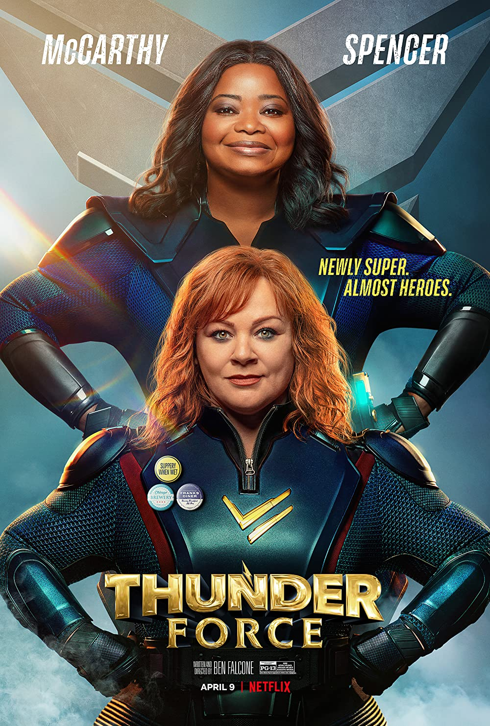 Thunder Force (2021) ORG Hindi Dual Audio 480p NF HDRip ESubs 350MB Download