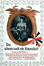 Black-White-Red Four Poster Poster