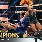 Rebecca Quin and Sasha Banks in WWE: Clash of Champions (2019)