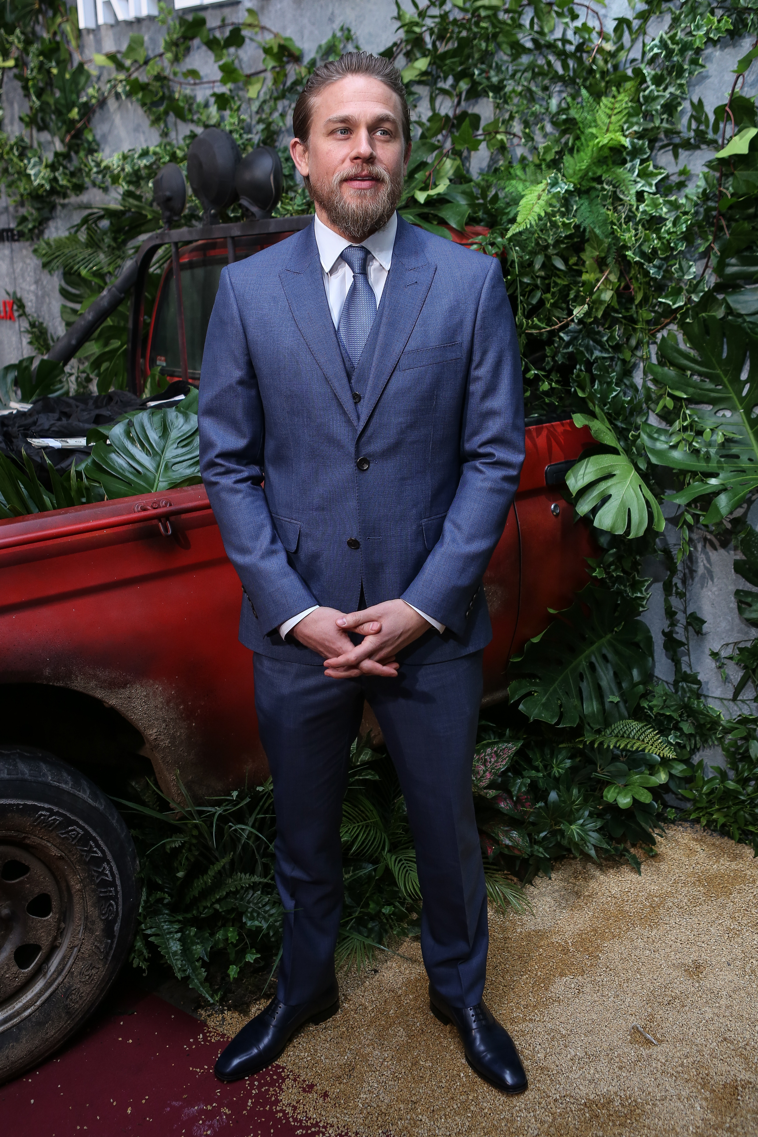 Charlie Hunnam at an event for Triple Frontier (2019)