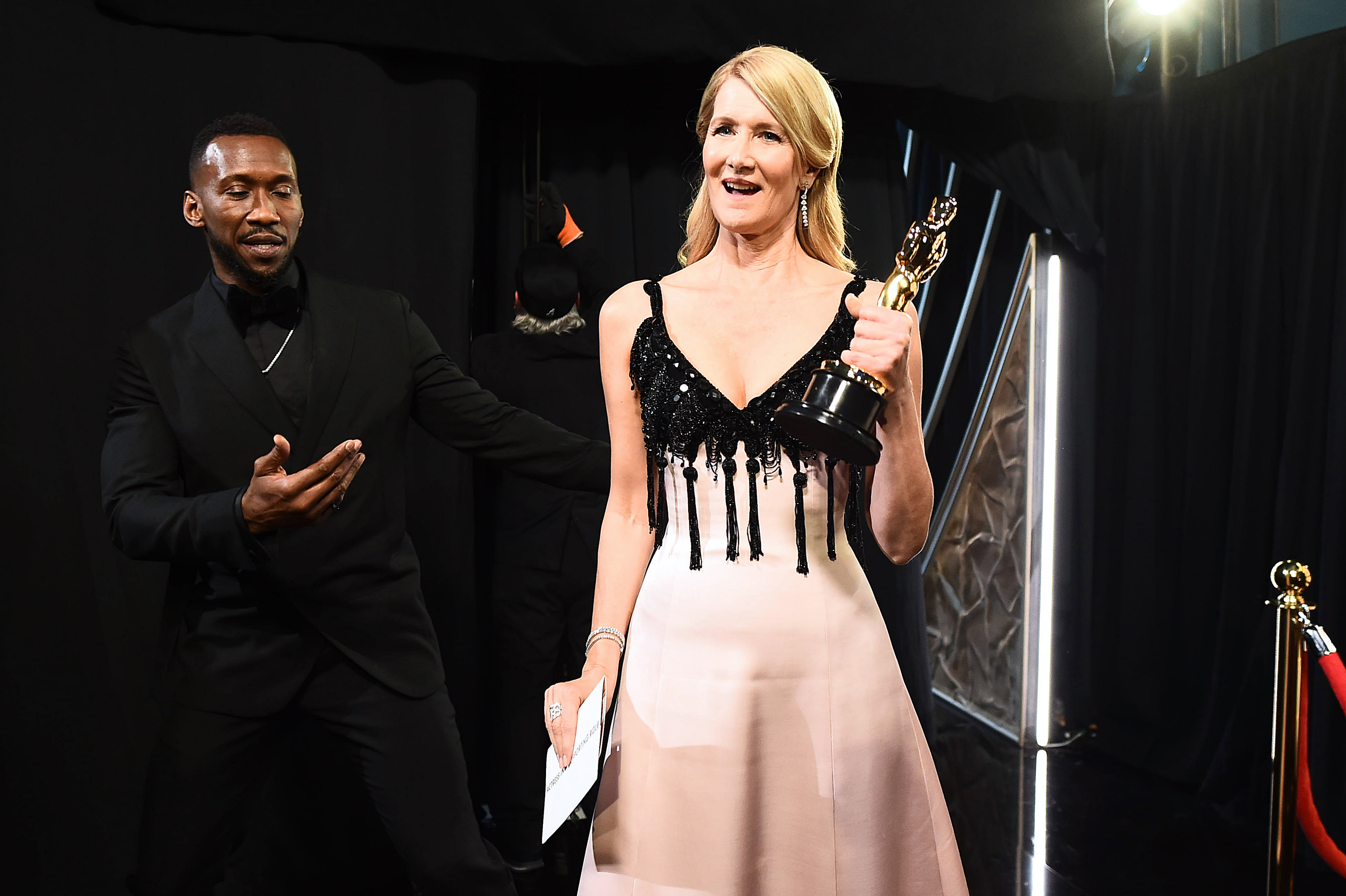 Laura Dern and Mahershala Ali at an event for The Oscars (2020)