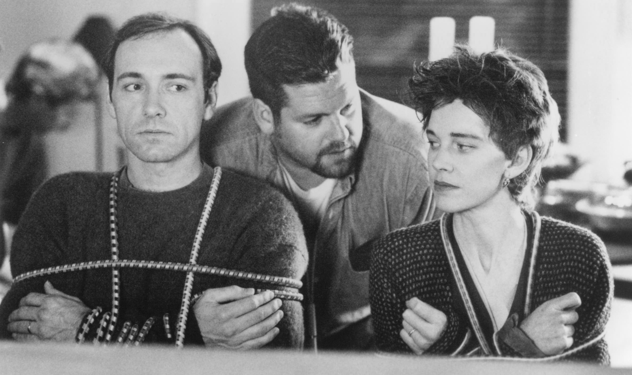 Kevin Spacey, Judy Davis, and Ted Demme in The Ref (1994)