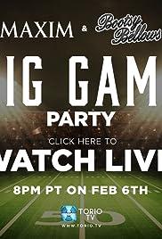 Maxim Magazine & Bootsy Bellows Big Game Live Poster