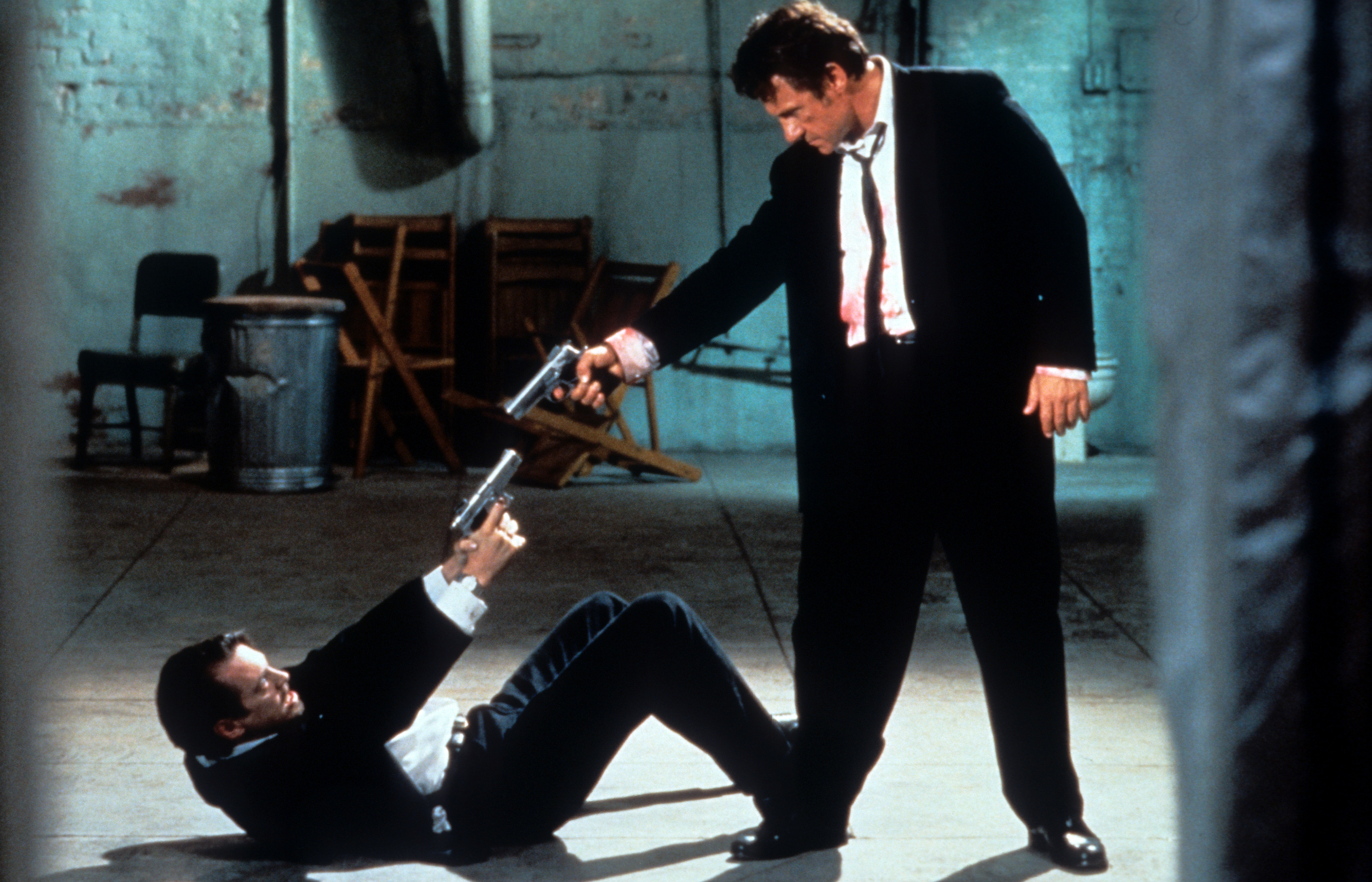 Steve Buscemi and Harvey Keitel in Reservoir Dogs (1992)