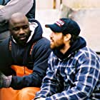 With Mike Colter on the set of Brooklyn Lobster.