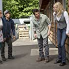 Rebecca Romijn, Lindy Booth, Christian Kane, and John Harlan Kim in The Librarians (2013)