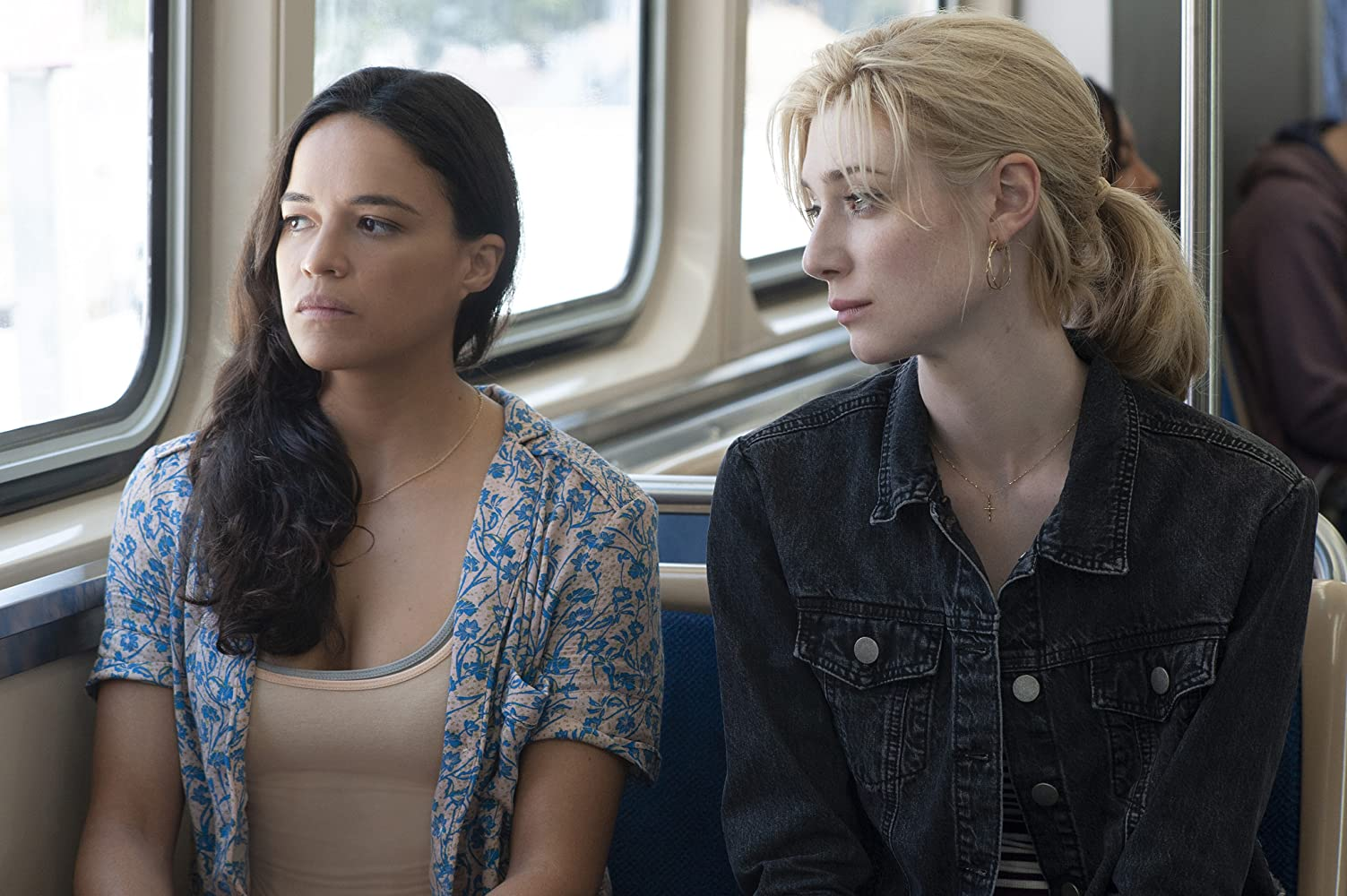Michelle Rodriguez and Elizabeth Debicki in Widows (2018)