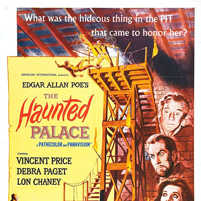 Lon Chaney Jr., Vincent Price, and Debra Paget in The Haunted Palace (1963)