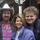 Executive Producer and writer Stephen J. Brackley, Markie Post and director David Winning on the set of Twice In A Lifetime (1999).