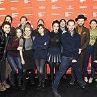 Lisa Edelstein, Adam Pally, Brett Gelman, Alison Brie, Nick Kroll, Aubrey Plaza, Jenny Slate, and Thomas Middleditch at an event for Joshy (2016)