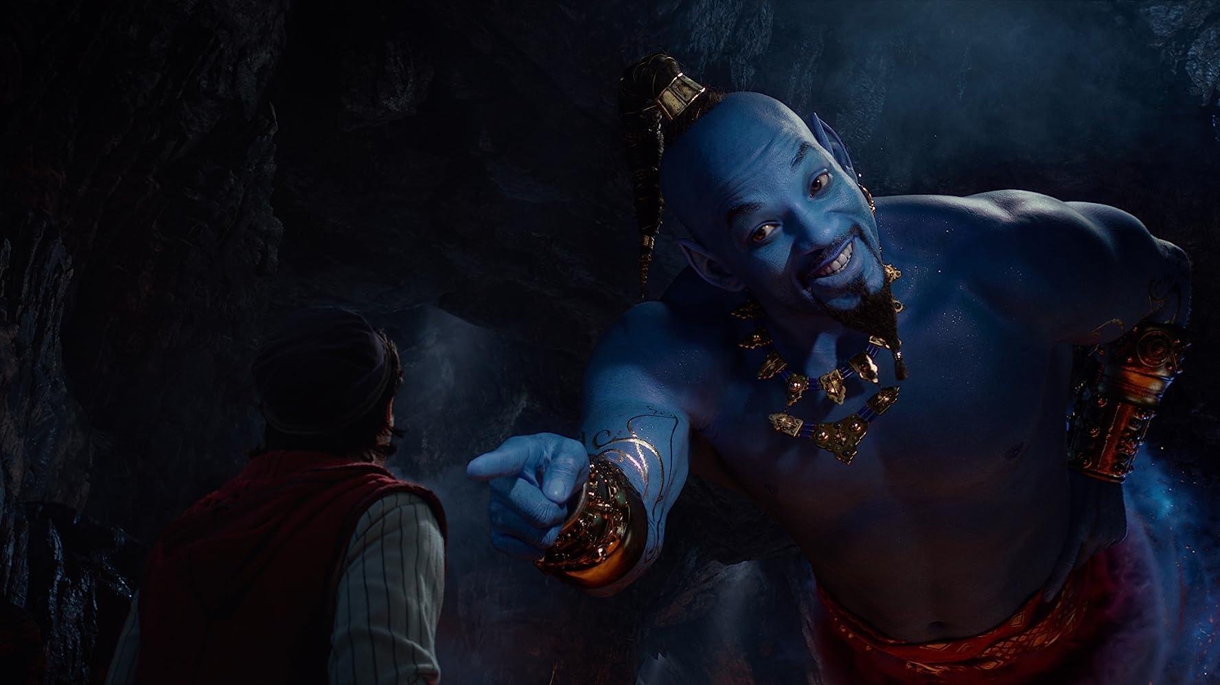Will Smith et Mena Massoud dans Aladdin (2019)
