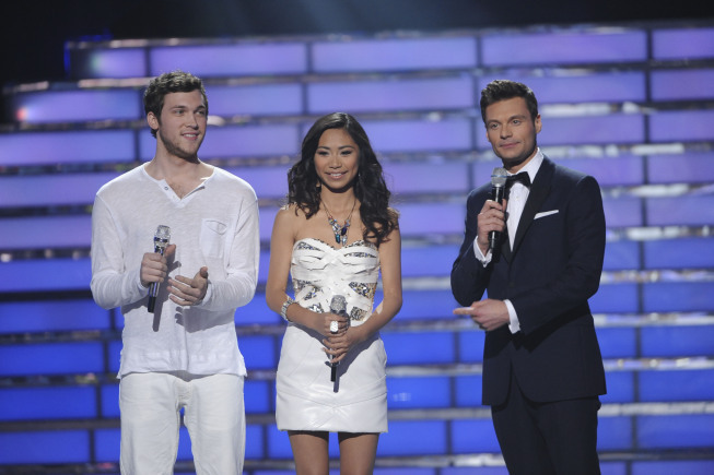 Ryan Seacrest, Jessica Sanchez, and Phillip Phillips in American Idol: The Search for a Superstar (2002)