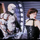 Kane Hodder and Lisa Ryder in Jason X (2001)
