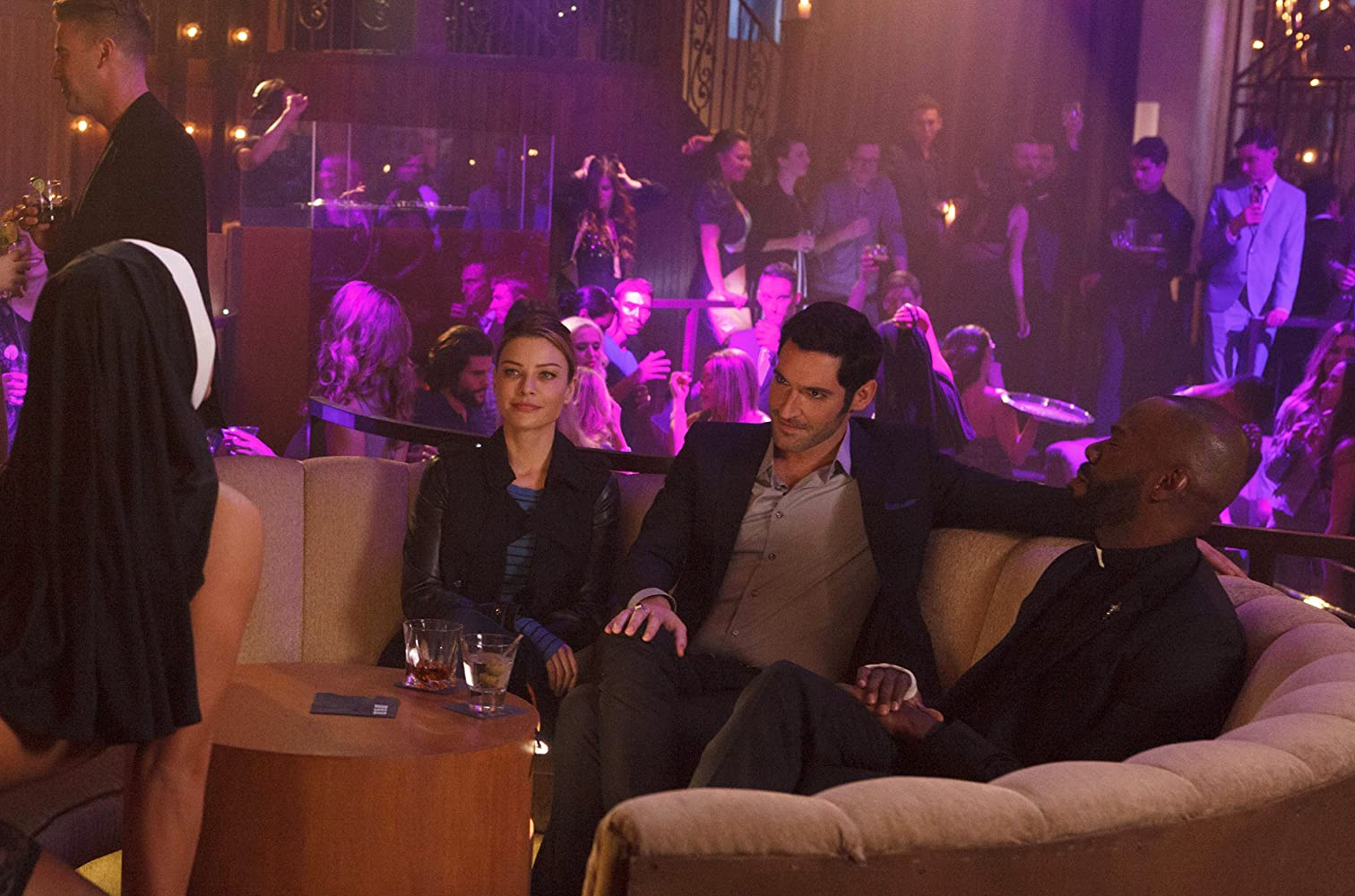 Colman Domingo Tom Ellis and Lauren German in Lucifer 2015