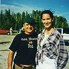 "Deborah Smith Ford and Joe Pesci on the set of ""Gone Fishin'"""