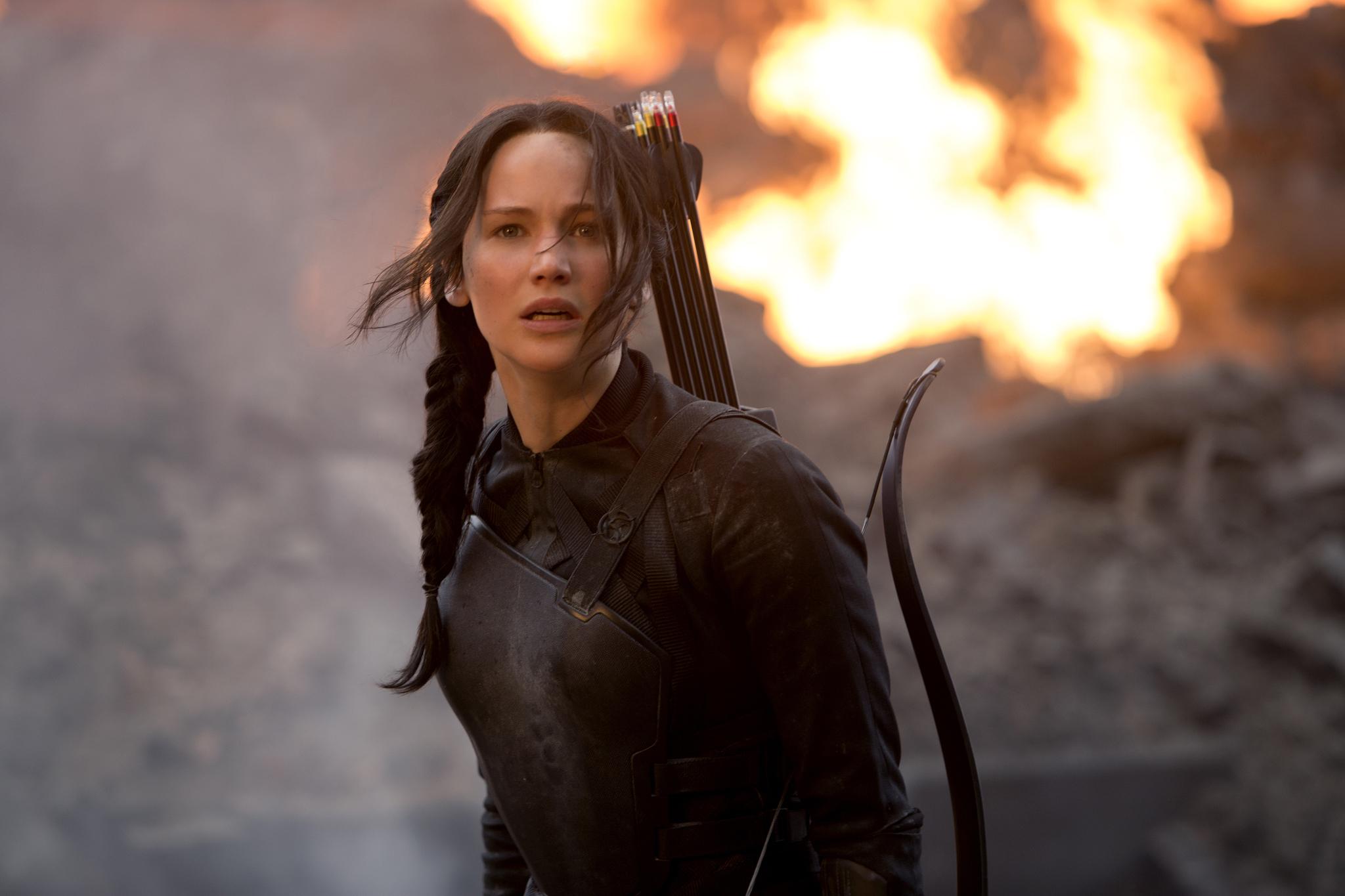 Jennifer Lawrence in The Hunger Games: Mockingjay - Part 1 (2014)