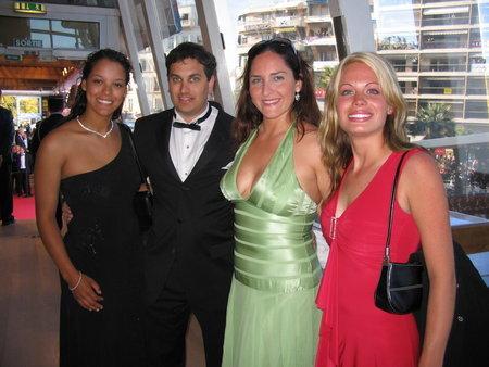 Stephanie Johnson, James Hergott, Lori Gundershaug and Audra J. Morgan at the 2005 Cannes International Film Festival.