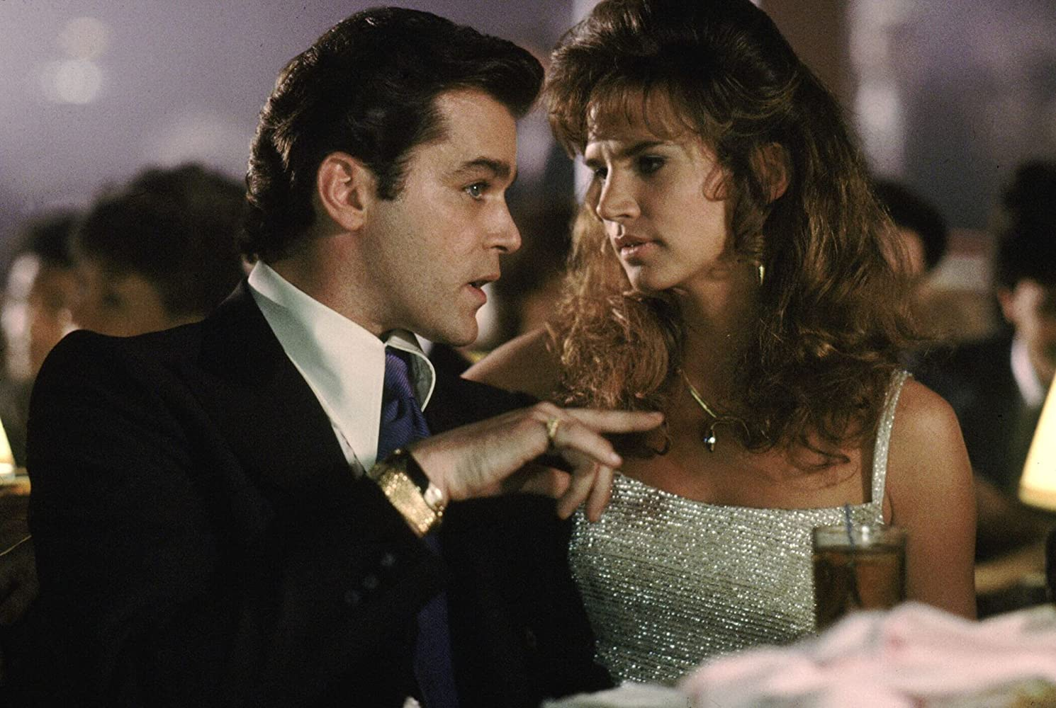 Ray Liotta és Gina Mastrogiacomo Goodfellas-ban (1990)