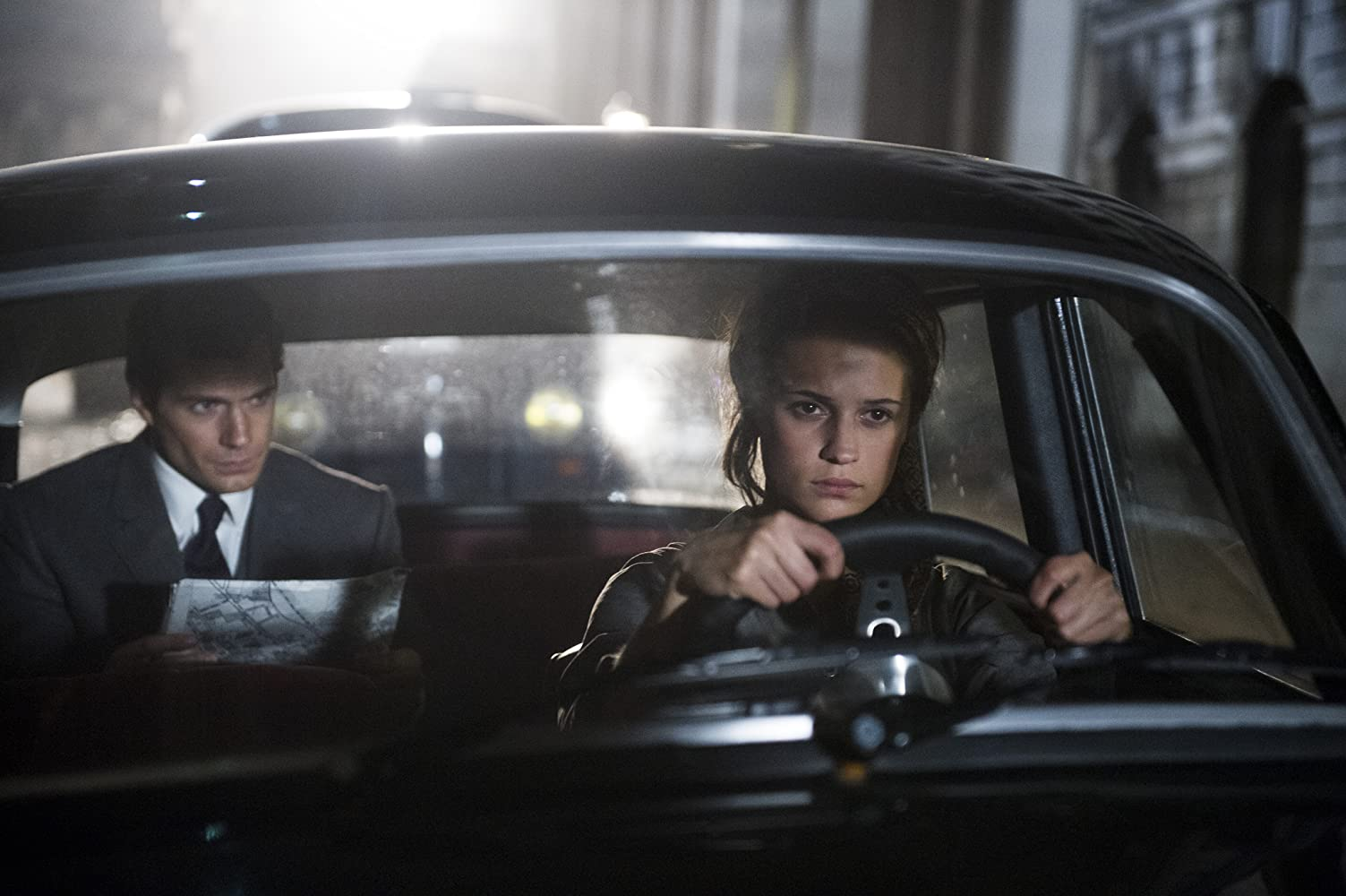Henry Cavill and Alicia Vikander in The Man from U.N.C.L.E. (2015)