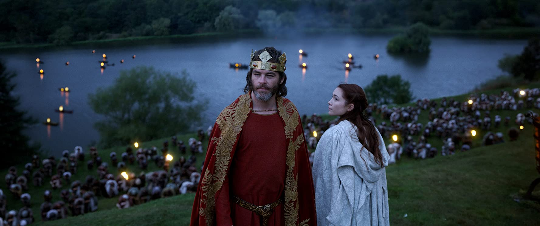 Chris Pine and Florence Pugh in Outlaw King (2018)