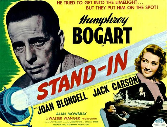 Humphrey Bogart, Joan Blondell, Leslie Howard, and Alan Mowbray in Stand-In (1937)