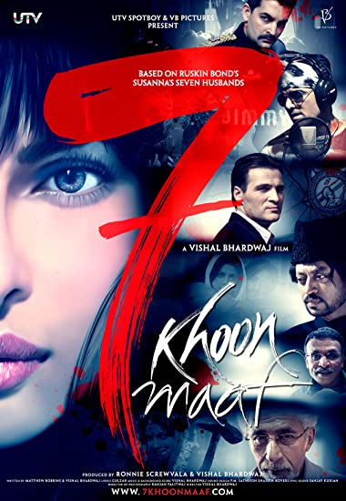 Poster of 7 Khoon Maaf 2011 Full Hindi Free Download Watch Online In HD Movie Download 720p HDRip