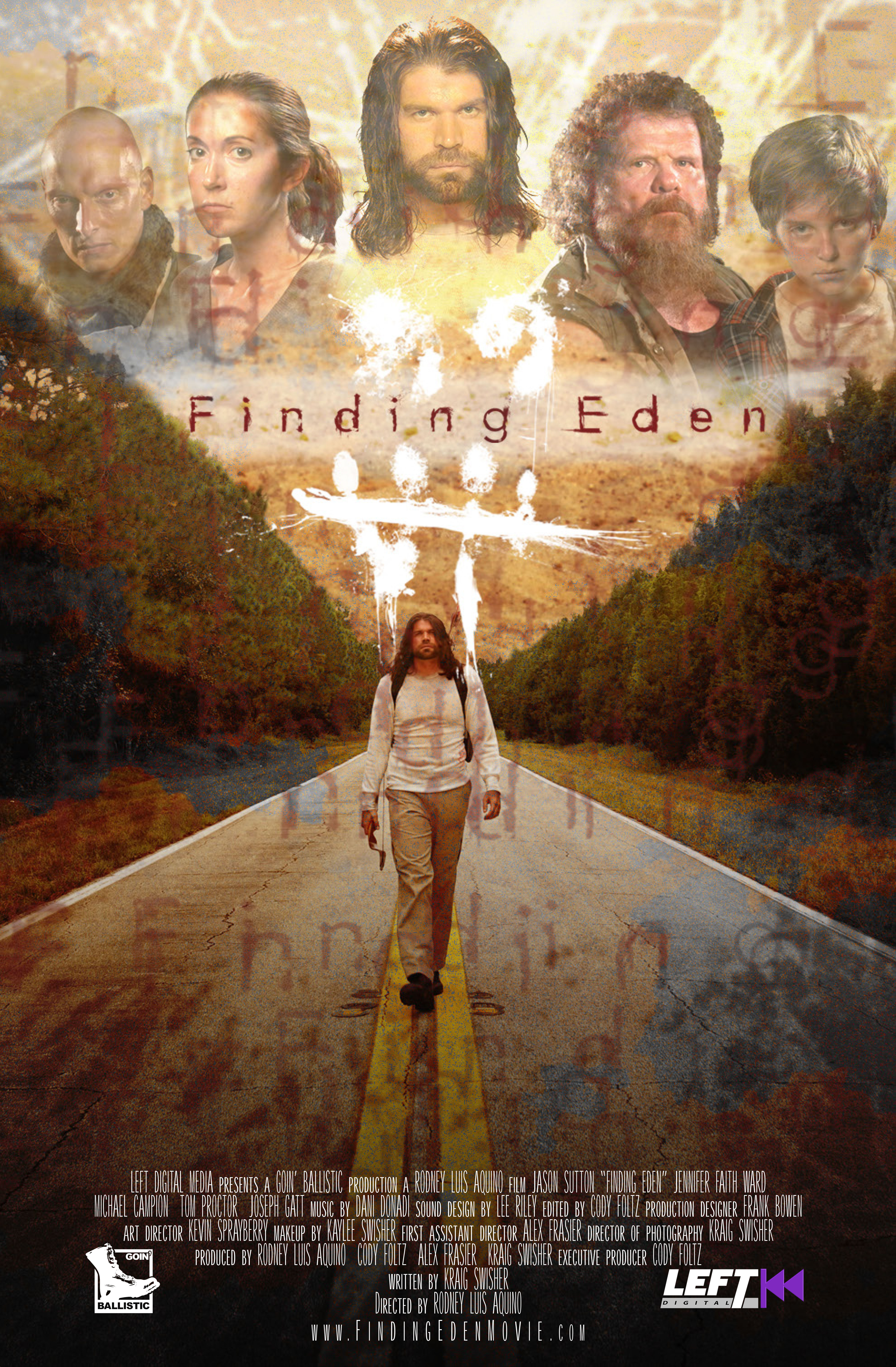 Tom Proctor, Joseph Gatt, Jason Sutton, Jennifer Faith Ward, and Michael Campion in Finding Eden (2017)
