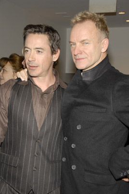 Robert Downey Jr. and Sting at an event for A Guide to Recognizing Your Saints (2006)