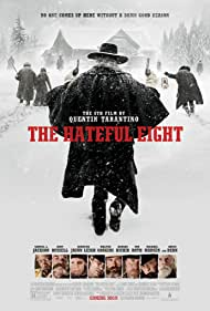 Samuel L. Jackson, Jennifer Jason Leigh, Michael Madsen, Tim Roth, Kurt Russell, Bruce Dern, Demián Bichir, and Walton Goggins in The Hateful Eight (2015)