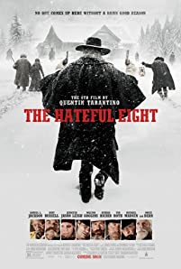 Samuel L. Jackson, Jennifer Jason Leigh, Michael Madsen, Tim Roth, Kurt Russell, Bruce Dern, Demián Bichir, and Walton Goggins in The Hateful Eight (2015)