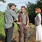 Bryce Dallas Howard, Chris Pratt, and Colin Trevorrow in Jurassic World (2015)