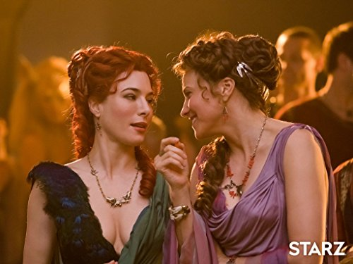 Lucy Lawless and Jaime Murray in Spartacus: Gods of the Arena (2011)