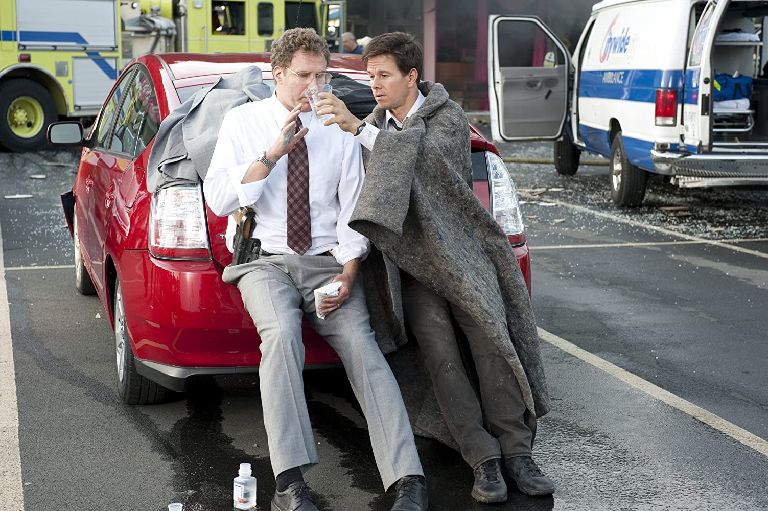 Mark Wahlberg and Will Ferrell in The Other Guys (2010)