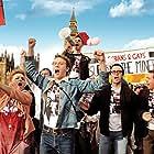 Joe Gilgun, George MacKay, and Faye Marsay in Pride (2014)
