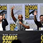 Will Smith, Joel Edgerton, and Edgar Ramírez at an event for Bright (2017)