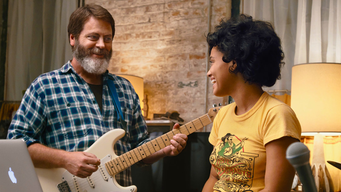 Nick Offerman and Kiersey Clemons in Hearts Beat Loud (2018)