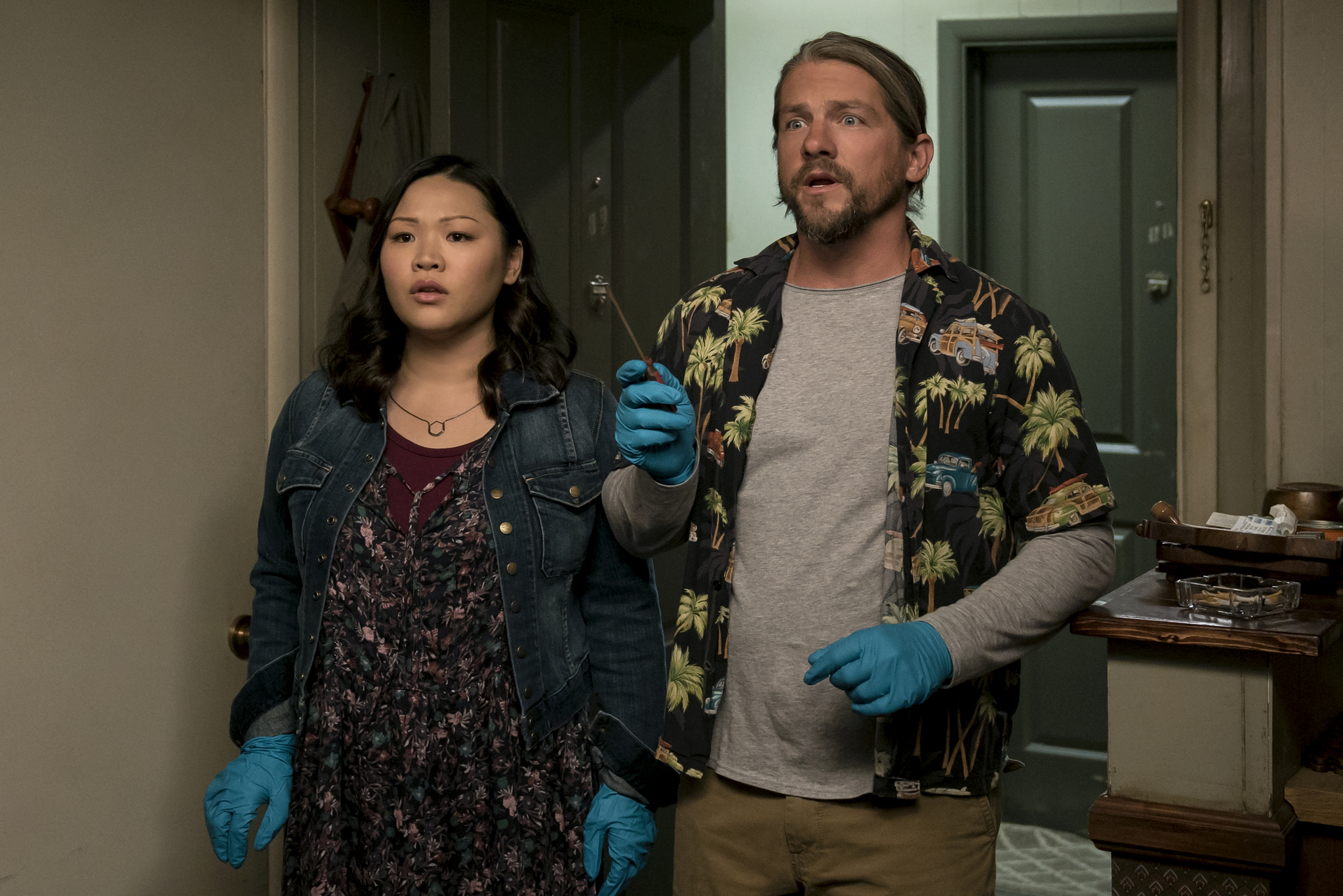 Zachary Knighton and Jee Young Han in Santa Clarita Diet (2017)