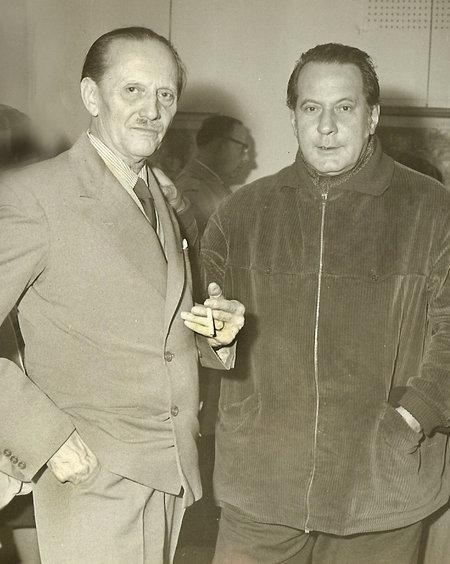 Luigi Ugolini (l), Pietro Annigoni (r)