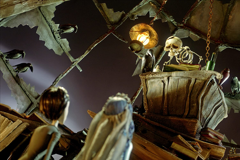 Johnny Depp, Helena Bonham Carter, and Michael Gough in Corpse Bride (2005)