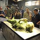 Producer Roger Lay, Jr. and Director Tony Baez Milan on set (Chrysalis, 2008)
