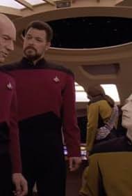 Michael Dorn, Jonathan Frakes, Brent Spiner, and Patrick Stewart in Star Trek: The Next Generation (1987)