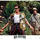 Jim Carrey and Ian McNeice in Ace Ventura: When Nature Calls (1995)