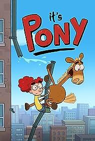 Jessica DiCicco and Josh Zuckerman in It's Pony (2020)