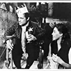 Dick Miller and Barboura Morris in A Bucket of Blood (1959)