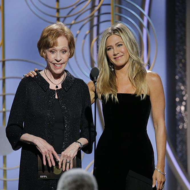 Jennifer Aniston and Carol Burnett at an event for 75th Golden Globe Awards (2018)