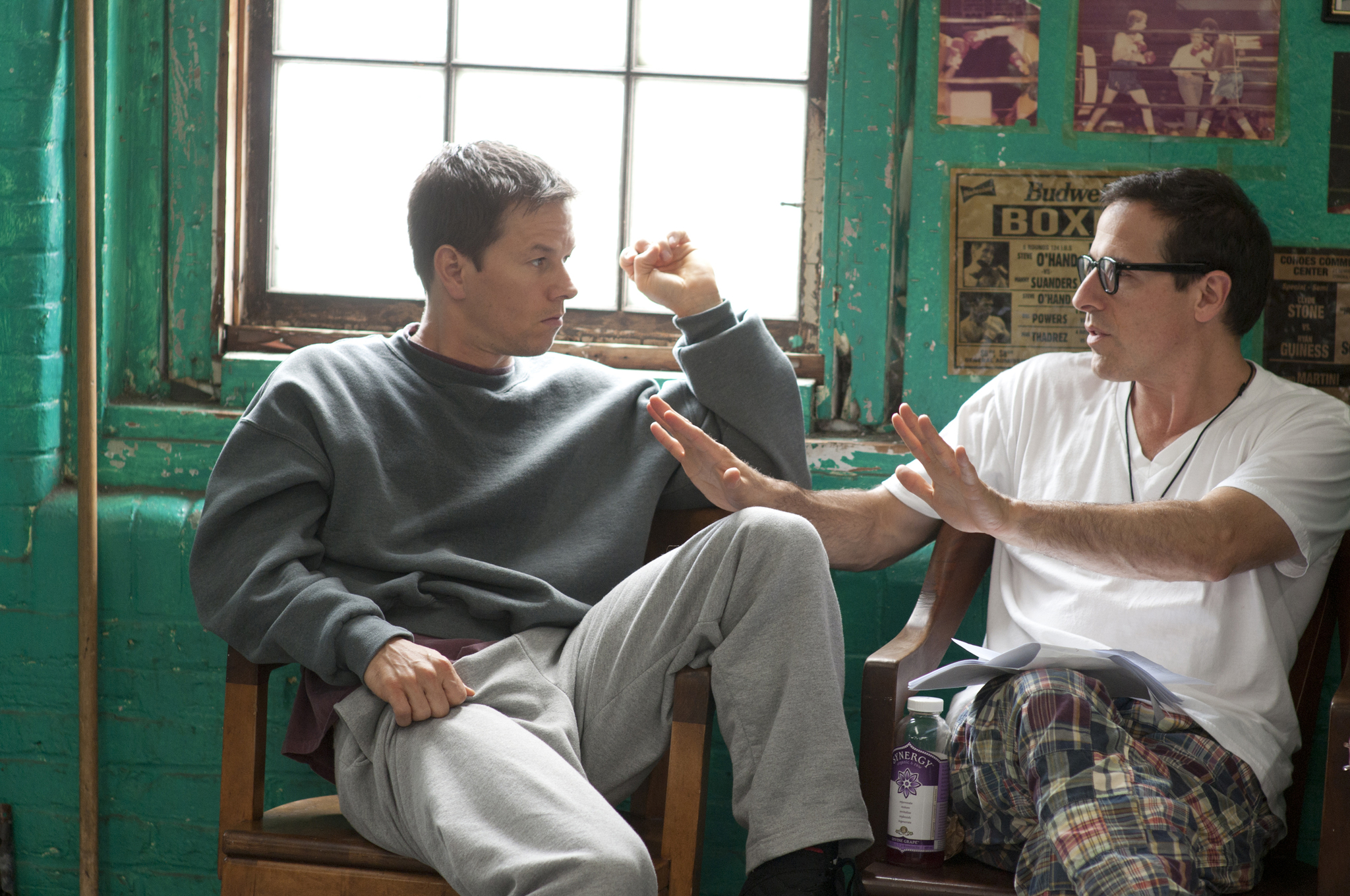 Mark Wahlberg and David O. Russell in The Fighter (2010)