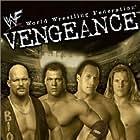 Kurt Angle, Steve Austin, Chris Jericho, and Dwayne Johnson in WWF Vengeance (2001)