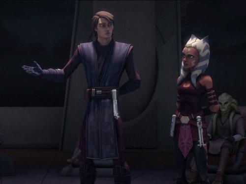 Ashley Eckstein, Phil LaMarr, and Matt Lanter in Star Wars: The Clone Wars (2008)
